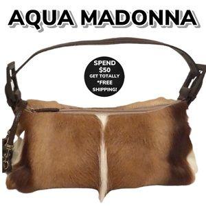 AQUA MADONNA Antelope Hair Shoulder Bag